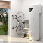 pompa ciepła Nuos Plus firmy Ariston zamontowana w garażu