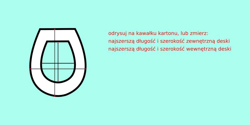 deska sedesowa odrysowywanie na kartonie