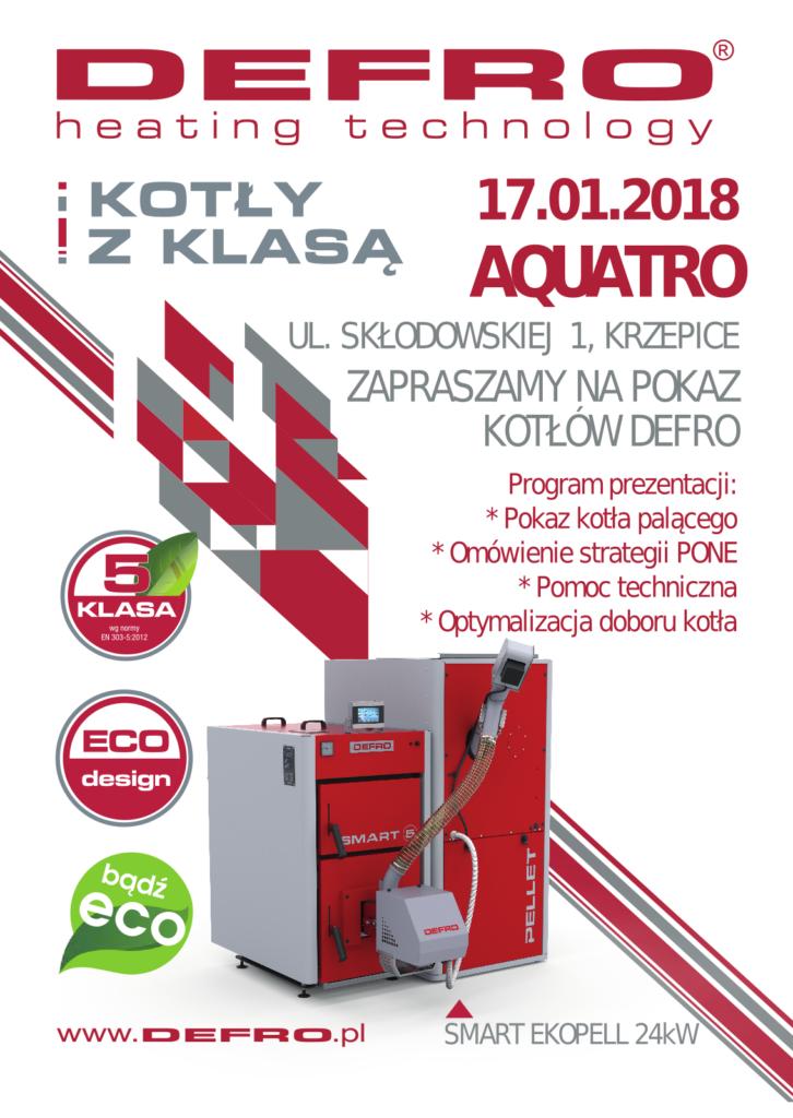 prezentacja kotłów Defro w Aquatro